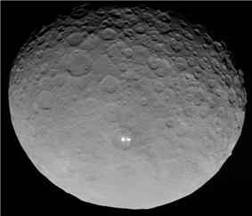 Image of Ceres by the <b>Dawn spacecraft</b>.