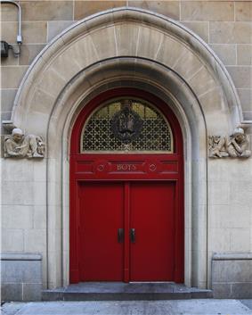 Boys door to PS116