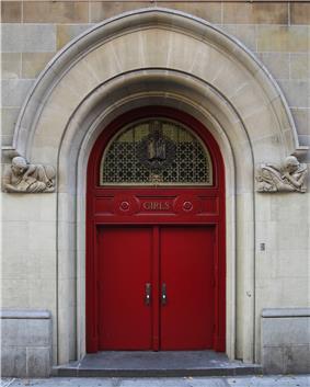 Girls door to PS116