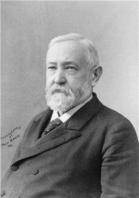 Benjamin Harrison, 23rd President of the United States, with his Cabinet