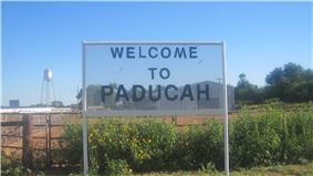 Paducah welcome sign