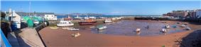 Paignton Harbour, with Torquay in the background