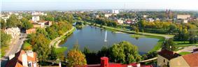 Panorama overlooking Panevėžys