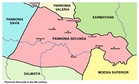 Location of Pannonia Secunda