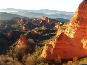 Panoramic view of Las Médulas