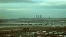 View of Madrid from Paracuellos.