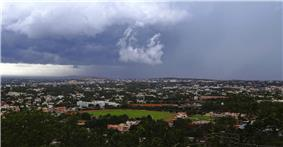 Panoramic View of Hubli Eastern suburbs from Nrupatunga Hill