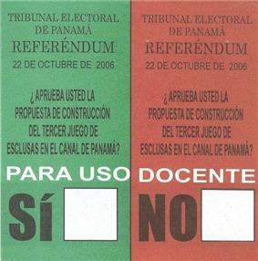 Panamanian referendum ballot