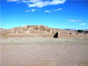 Ruins of earthen houses.