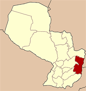 Alto Paraná shown in red