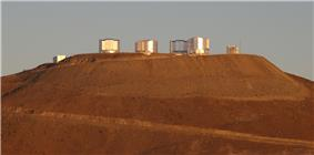 Cerro Paranal (main-peak) with the VLT and VST