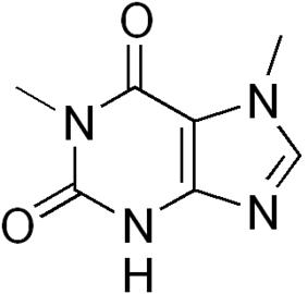 Skeletal formula of paraxanthine