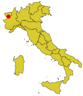 Map showing the location of Parco nazionale del Gran ParadisoParc national du Grand-Paradis