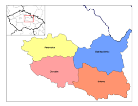 Districts of Pardubice