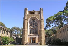 Parkville - University of Melbourne (Newman College Chapel).jpg