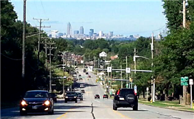 Cleveland Skyline from State Rd