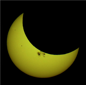 23 October 2014 partial eclipse
