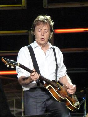 Paul McCartney Performs in Dublin.