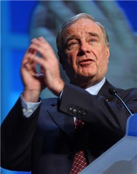 The Prime Minister of Canada, Paul Martin, former alumni of University of Ottawa
