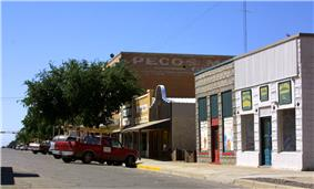 Storefronts in downtown Pecos