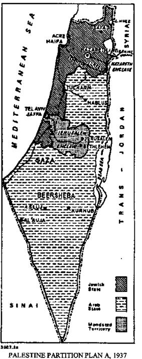 Peel Commission partition plan A