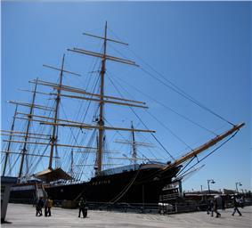 Peking docked in New York City