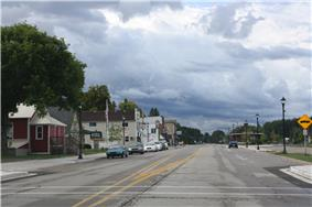 Looking south in downtown Pellston on US 31