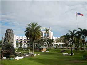 Perez Park with the Quezon Provincial Capitol in the background
