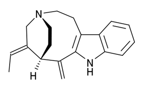 Chemical structure of Pericine.