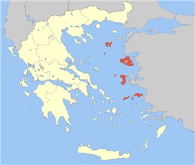 Location of North Aegean