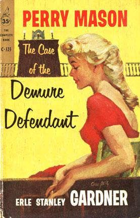 Cover of Perry Mason novel, showing blonde woman in red dress