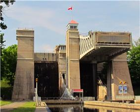 View of the Peterborough Lift Lock in 2012
