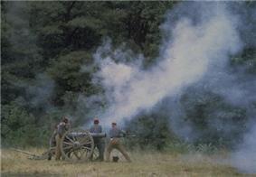 re-enactors on Petersburg National Battlefield