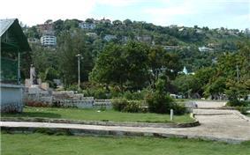 A view of Pétionville's hillside