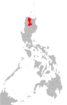 Location of Kalinga-Apayao