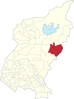 Map of Quezon City showing Batasan Hills
