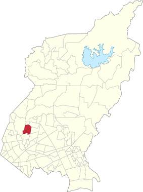 Map of Quezon City showing San Antonio
