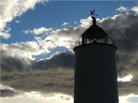 Île-Verte Lighthouse silhouetted against the sky