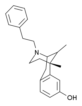 Chemical structure of Phenazocine.