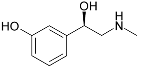 Skeletal formula of phenylephrine