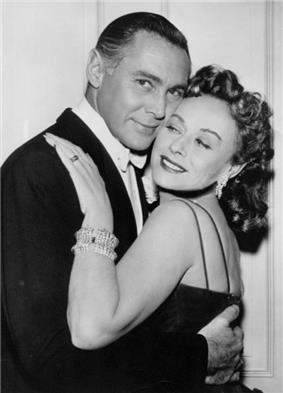 Phillip Reed and Paulette Goddard