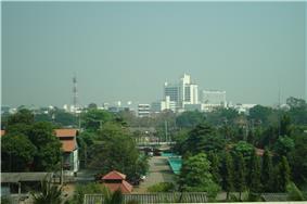 Phitsanulok skyline from the Grand Riverside Hotel