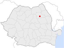 Location of Piatra Neamț