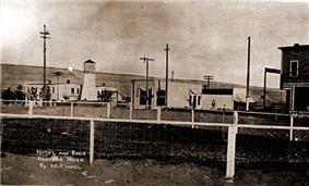 Main street in Hanford, 1915