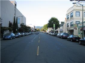 A look up Piedmont Avenue