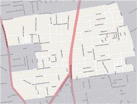Street map of Piedras Blancas