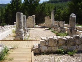 Ancient synagogue in upper Galilee