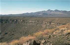Crater Elegante with the Pinacate peaks.