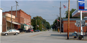 Lafayette Street at the intersection of 26 and 55