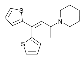 Chemical structure of Piperidylthiambutene